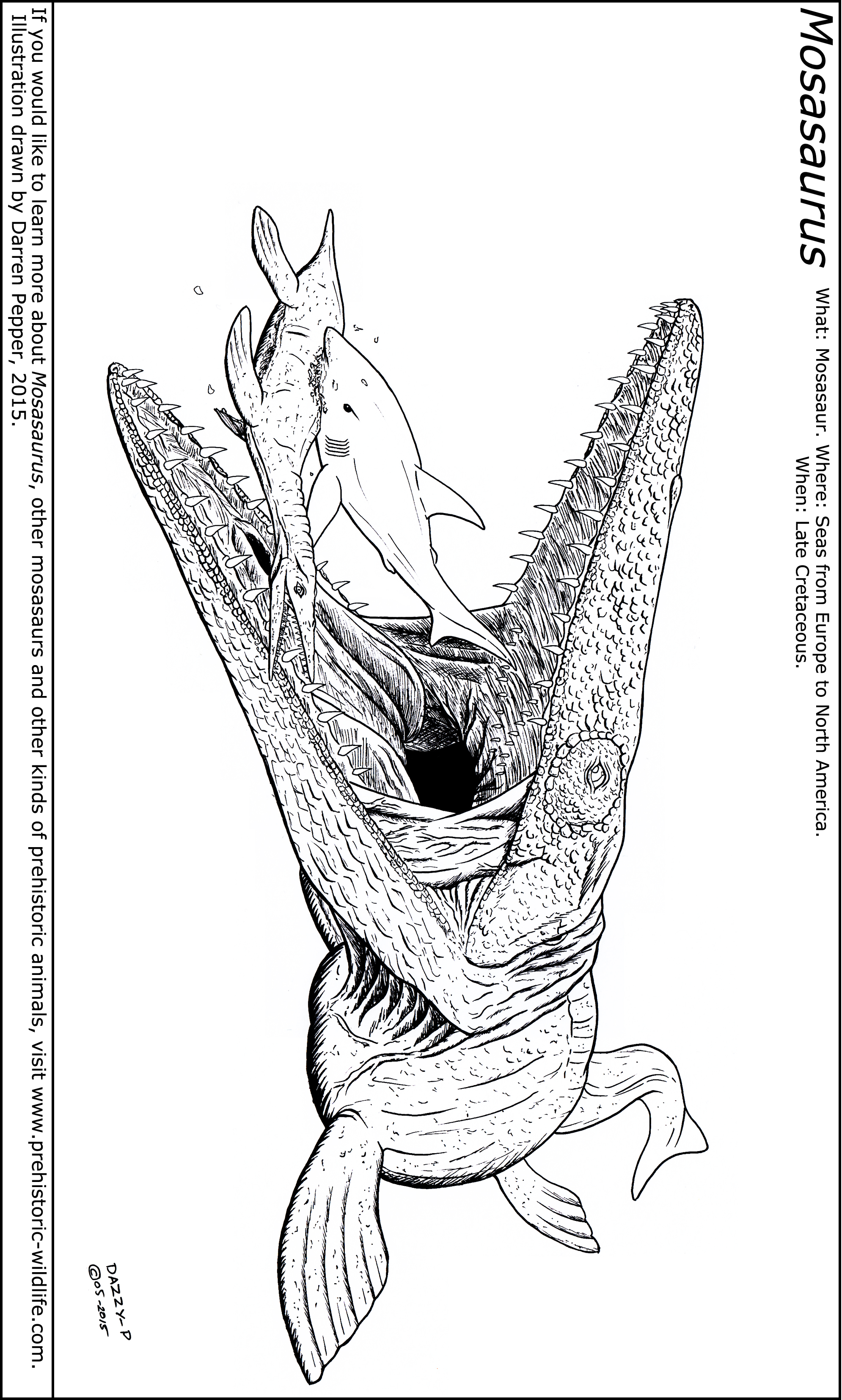 Mosasaurus dinosaur coloring page coloring pages - Leaellynasaura Coloring Page